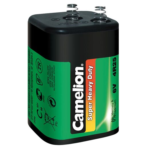 Laternenbatterie CAMELION Super Heavy Duty 6V, Typ 4R25, 1er-Pack