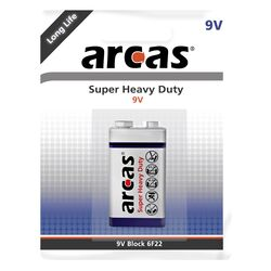 Block-Batterie Super Heavy Duty 9V, Typ 6F22, 1er-Pack