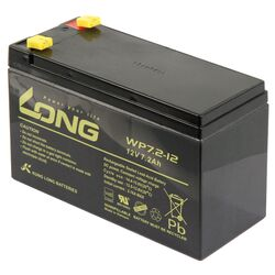 Bleiakku KUNG LONG WP7,2-12 12V/7,2Ah, VdS, 151x65x102mm,...