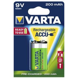 9V-Akku VARTA POWER ACCU Ready2Use, Ni-MH, 200mA, Typ 9V...