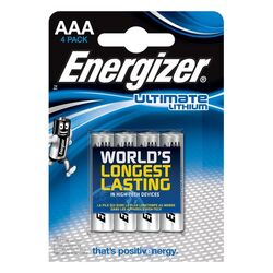 Energizer L92 Micro AAA, Micro Lithium 1,5Volt 4er Blister