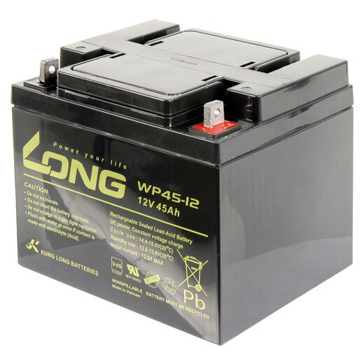 Bleiakku KUNG LONG WP45-12 12V/45Ah, VdS, 198x166x171mm, 14,1kg