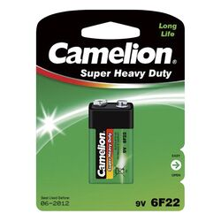 Block-Batterie CAMELION Super Heavy Duty 9 V, Typ 6F22,...
